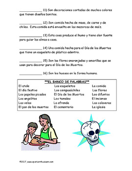 Day of the Dead and Halloween Spanish Activities Unit (39 pages)