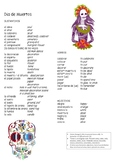 Day of the Dead and Halloween Spanish Vocab Sheets
