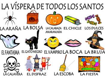 Day of the Dead and Halloween Vocabulary Activities & Games Unit