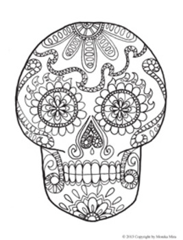 Day of the Dead and Life-sized skeleton Coloring Sheets | TpT