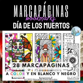 Day of the Dead bookmarks Dia de los Muertos