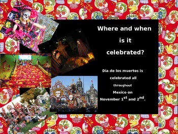 Day of the Dead/dia de los muertos power point -compare/contrast with Halloween