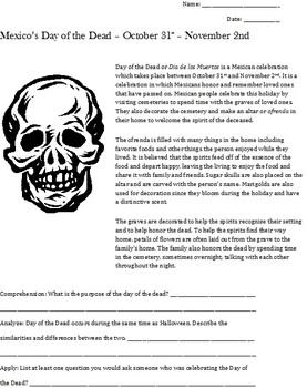 Day of the Dead or Dia de los Muertos Skull Art Lesson