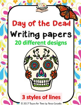 Day of the Dead writing papers Dia de los Muertos