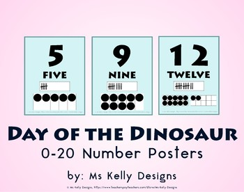 Day of the Dinosaur 0-20 Number Posters