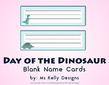 Day of the Dinosaur Blank Name Cards