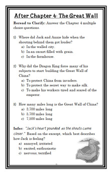 Day of the Dragon King | China Fact Tracker : Magic Tree House BUNDLE (55 pages)