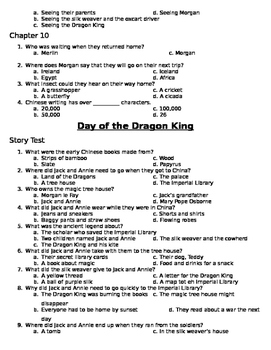 Day of the Dragon King Comprehension Questions