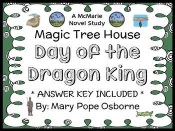 Day of the Dragon King: Magic Tree House #14 Novel Study / Reading Comprehension