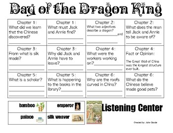 Day of the Dragon King (Magic Tree House) Comprehension Questions