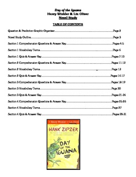 Day of the Iguana (Winkler & Oliver) - Novel Study