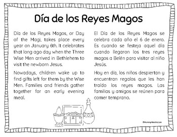 Day of the Magi - Dia de los Reyes - Bilingual Minibook