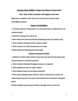 Day of the Triffids Study Guide With Answers