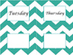 Day of the Week Chevron Labels
