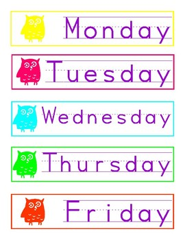 Day of the Week Desk Group Labels