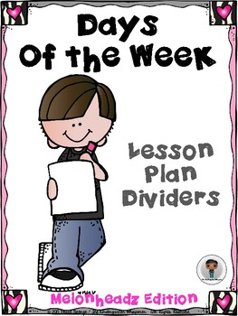 Days of the Week Lesson Plan Dividers