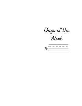 Day of the Week Writing Book