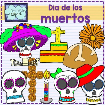 Day of the dead - Dia de los muertos clip art {Social Studies clipart}