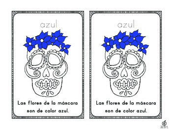 Spanish Day of the Dead Color Words Emergent Reader
