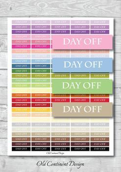 work tracker Day off Planner stickers