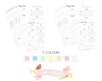 Day on One Page Printable Planner Insert