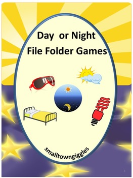 Day or Night? File Folder Games