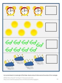 Day or Night? File Folder Games