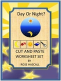 Day and Night Math & Literacy Cut Paste Special Education