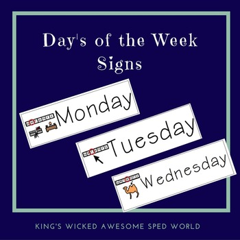 Day's of the Week Classroom Signs