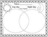Day sky vs night sky Venn Diagram