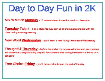 Day to Day Fun - Classroom Community Building