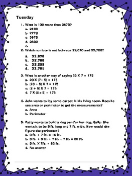 Day to Day Math Practice Revised
