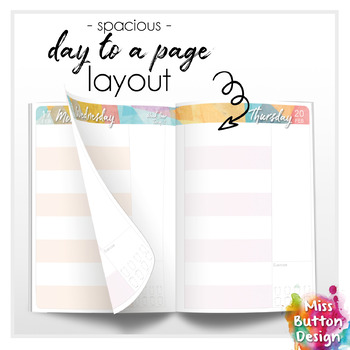 2020 Printable Teacher Diary Planner - Day to a Page - NT School Term Dates