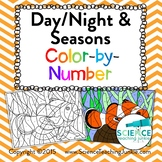 Day/Night & Seasons Color-by-Number (TEKS 8.7A)