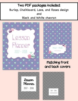 Daybook Lesson Planner 2017 - 2018 (I love french macarons + black and white)
