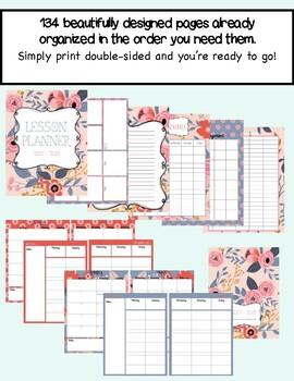 Daybook Lesson Planner 2017 - 2018 (Vintage Floral + Bonus Black & White)