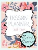 Daybook Lesson Planner 2017 - 2018 (Vintage Floral + Bonus