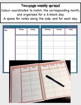 Daybook Lesson Planner 2018 - 2019 (Boho Floral)
