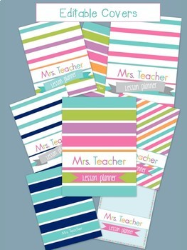 Daybook Teacher Binder Preppy Style by Tina's Teaching Treasures 2017-2018