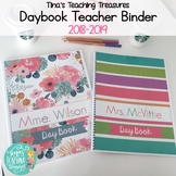 Daybook Teacher Binder Preppy Style by Tina's Teaching Tre