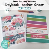 Daybook Teacher Binder Preppy Style by Tina's Teaching Treasures 2019-2020