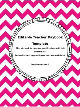 Daybook Template EDITABLE