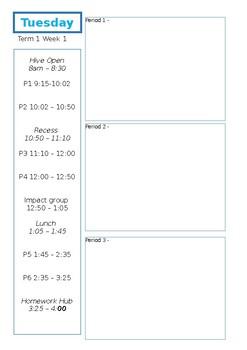 Daybook planner