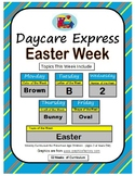 Daycare Curriculum (Easter) Letter B, Shape Oval, Color Brown, Number 2