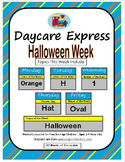 Daycare Curriculum (Halloween) Letter H, Shape Oval, Color