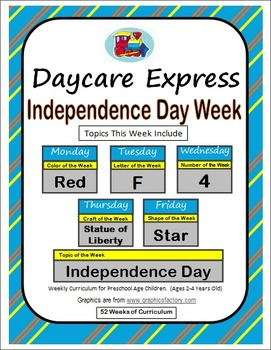 Daycare Curriculum (Independence Day) Letter F, Shape Star