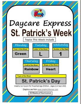 Daycare Curriculum (St. Patrick's) Letter L, Shape Heart, Color Green, Number 1