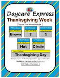 Daycare Curriculum (Thanksgiving) Letter T, Shape Circle,