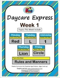 Daycare Curriculum (Week 1)  Letter L, Shape Circle, Color Red, Number 1