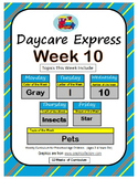 Daycare Curriculum (Week 10) Letter I, Shape Star, Color Gray, Number 10